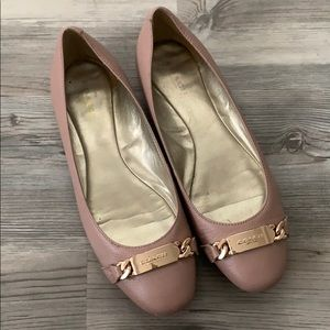 Coach nude flats size 8